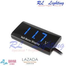Spesifikasi 1Bh Led Voltmeter Digital Mobil Motor Waterproof Biru
