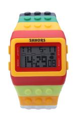 Jual Led Watch Fashion Casual Colorful Rainbow Wristwatches B13 Satu Set