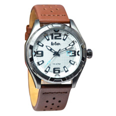 Lee Cooper Jam Tangan Pria Cokelat Leather Strap LC-33G-B-Arsenal