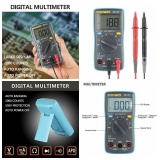 Beli Leegoal Digital Multimeter Auto Ranging Pocket Digital Multimeter Digital Multi Tester Ac Dc Voltage Dc Current Resistance Diodes Capacitance Transistor Backlit Lcd Measuring Instrument Zt98 Intl Leegoal Murah