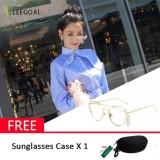Leegoal Wanita Kacamata Hitam Sunscreen Anti Uv Warna Film Kacamata Busana Emas Dan Transparan Intl Tiongkok Diskon