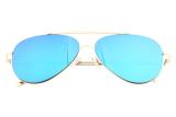 Beli Leegoal Unisex Vintage Yang Trendi Selebriti Kamis 15 Kacamata Penerbang Logam Emas Bingkai Emas Hijau Lensa Lengkap