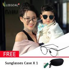 Rp 73.800. Leegoal wanita kacamata hitam Sunscreen Anti - UV warna Film kacamata busana, hitam ...
