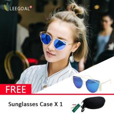 Harga Leegoal Wanita Kacamata Hitam Sunscreen Anti Uv Warna Film Kacamata Busana Sliver And Biru Dan Spesifikasinya