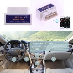 Leegoal Wireless OBD2 Mobil Kode Reader WIFI OBDII Scan Alat Pemindai Menghubungkan Adaptor Lampu Mesin Cek Diagnostik Alat untuk dengan IOS, Android-Intl