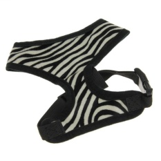 Lemon Non Pull Small Medium Pet Dog Cat PuppyComfortControlLeashharness Soft Cotton Breathable Mesh AdjustableWalkingCollarVestharness Apparel Clothes With O Ring.Zebra StripesXl