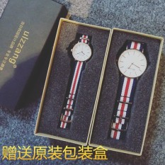 Li Yi Feng's Li Zhong Shuo's periphery together style watch nylon canvas student lovers Men's Fashion Watch - intl