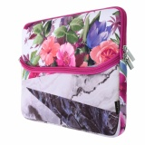 Beli Barang Lightning Power Antique Marble Granite Pattern Tropic Fusion Color Print Neoprene Fabric 13 Inch Laptop Sleeve Zipper Case Bag For 13Inch Notebook Flower Style Intl Online