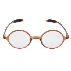 Ringan TR90 Round Kacamata Baca Getah Presbyopia Kacamata + 3.0-Internasional