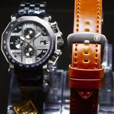 [Limited Edition] LTS23997 Tetonis Original - Jam tangan pria casual fashion dan sport Tetonis Cronograph&tanggal Aktif- rantai bonus tali kulit - Body Stainless steel