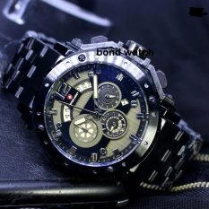 Spesifikasi Limited Edition Swiss Army Sa1000 Chrono Jam Tangan Pria Stainless Steel Strap Black Baru