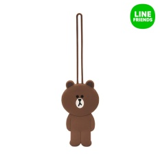 Spesifikasi Line Friends Luggage Tag Brown Intl Terbaru