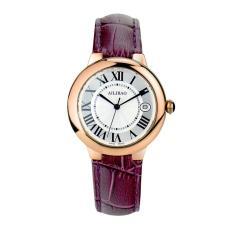 LingTud Aili nano gold treasure balloon handmade diamond import movement watch Lady quartz watch belt (GoldPurple)