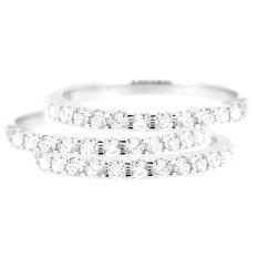 LINO P1604260006 Cincin Berlian Emas Putih 18K - White Gold