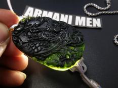 Toko Liontin Black Jade Giok Hitam Kalung Kesehatan Blackjade Natural Naga Phoenix Fengshui China Armani Men Acc Termurah Jawa Tengah