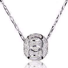 Liontin Mutiara Liontin Kalung Wanita Transhipment Pearl Pendant - Silver