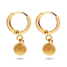 Bola Kecil Tetes 18 K Elektroplate Warna Emas Earrings Untuk Wanita Intl Terbaru