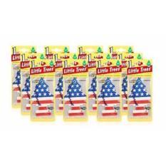 Little Trees Car Freshner 12 pcs - Pengharum Mobil Rasa Vanilla Pride - Bendera Amerika-