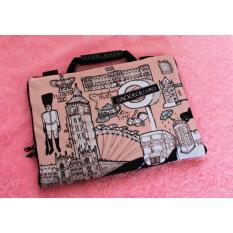 London Vintage 13-14 inchi softcase Tas/Bag sarung laptop Macbook Notebook Keren Elegant