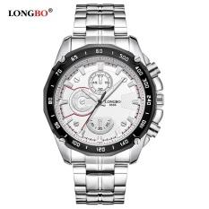 LONGBO Merek Bisnis Watch Pria Daytona Militer Stainless Steel Gelang Tahan Air QUARTZ Watch Pria 8686-Intl