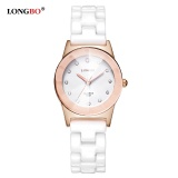 Cara Beli Longbo Merek Jam Tangan Fashion Wanita Watch 2017 Putih Keramik Diamond Waterproof Jelly Quartz Jam Tangan Internasional