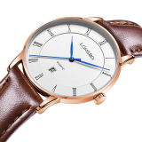 Model Longbo Casual Luxury Sport Tali Kulit Asli Quartz Wrist Watch Pecinta Watch Calendar Watch 80292 Intl Terbaru