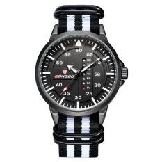 Jual Longbo Casual Sprot Analog Wrist Watches Nilon Watchband Geneva Quartz Watch Dengan Kalender 3018 Intl Murah Tiongkok