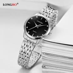 Harga Longbo Fashion Kasual Stainless Steel Watchband Quartz Analog Tahan Air Watch 80322 Intl Termahal
