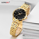 Beli Longbo Fashion Casual Stainless Steel Watchband Quartz Analog Waterproof Watch 80322 Intl Nyicil