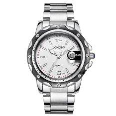 Harga Longbo Mans Bisnis Kasual Fashion Jam Quartz Stainless Steel Belt Arloji Jam Tangan Dengan Penanggalan 80101 Internasional Branded