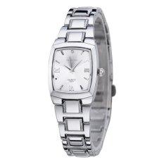 Model Longbo Fashion Square Alloy Strap Sport Bisnis Pasangan Analog Quartz Watch Jam Tangan 8367 Intl Terbaru