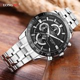 Spek Longbo Fashion Stainless Steel Strap Sport Bisnis Og Quartz Watch For Pria 80137