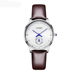 Jual Longbo Luxury Brand Leisure Wrist Watch Couple Watch Military Quartz Leather Band Waterproof Brown 80070 Ori