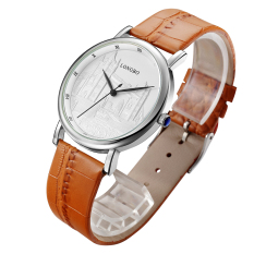 Toko Longbo Luxury Quartz Watch Casual Fashion Leather Watches Sports Wristwatch Orange 80035 Tiongkok