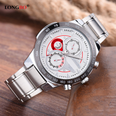Jual Longbo Man Fashion Stainless Steel Starp Sport Business Quartz Watch For Men Longbo Ori