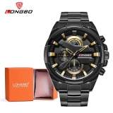 Toko Longbo Man Fashion Stainless Steel Strap Sport Bisnis Casual Quartz Watch Untuk Mans Fashion 80242 Watch Gift Box Intl Terlengkap
