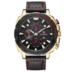 Diskon Longbo Men Sports Military Leather Quartz Wrist Watch Emas Intl Longbo Tiongkok