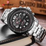 Spesifikasi Longbo Sport Bisnis Army Analog Stainless Steel Watchband Quartz Watch 80296 Intl Paling Bagus