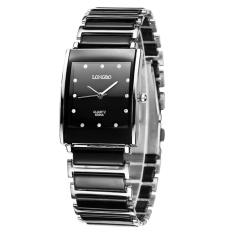 Review Pada Longbo Tahan Air Mewah Persegi Bisnis Keramik Arloji Watches Kasual Beberapa Quartz Watch 8395A Intl