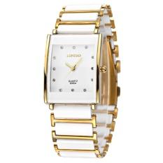 Jual Longbo Tahan Air Mewah Persegi Bisnis Keramik Arloji Watches Kasual Beberapa Quartz Watch 8395A Intl Longbo Grosir