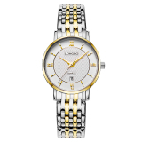 Longbo Wanita Fashion Kasual Pecinta Luxury Waterproof Gaya Bisnis Stainless Steel Quartz Watches Jam Tangan Dengan Penanggalan 5002 Intl Murah