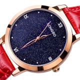 Longbo Women S Fashion Real Kyanite Dial Quartz Watch Women Leather Band Wrist Watches Wristwatch 5052 Intl Terbaru