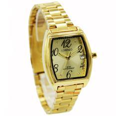 Promo Lorenzo 1011L Jam Tangan Wanita Stap Stainless Steel Gold Akhir Tahun