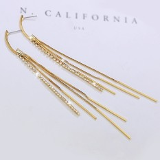 Love Hee (perhiasan) Wanita Temperamen Overrated Long Fringe Anting Anting Korea Retro Earrings Telinga Perhiasan Kepribadian-Intl