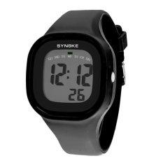 Lucu Semanggi Synoke 66896 Wanita Anti-Air Olahraga Jam Tangan Keren Modis Digital Jam Tangan Putih LCXSZ3 (Warna: seperti Gambar Pertama)-Internasional
