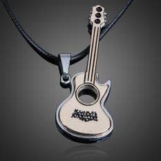 Indah Gitar Liontin Kalung Boy Girl Perhiasan Unisex Titanium Steel