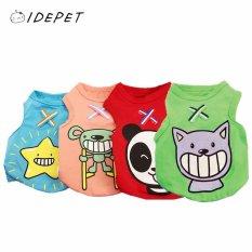 Indah Hewan Peliharaan Anjing, Cat, Baju, Shirt, Soft Cotton Vest (Biru-L)-Intl