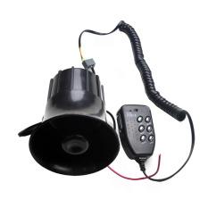 LoveSport 12 V 6 Nada Alarm Megaphone Siren Horn Loud Speaker dengan MIC Motor Perahu Mobil (Hitam)