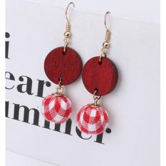 LRC Anting Gantung Fashion Ball Shape Decorated Earrings