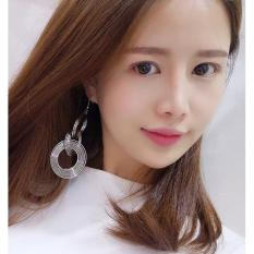 LRC Anting Gantung Fashion Circular Ring Decorated Pure Color Earrings